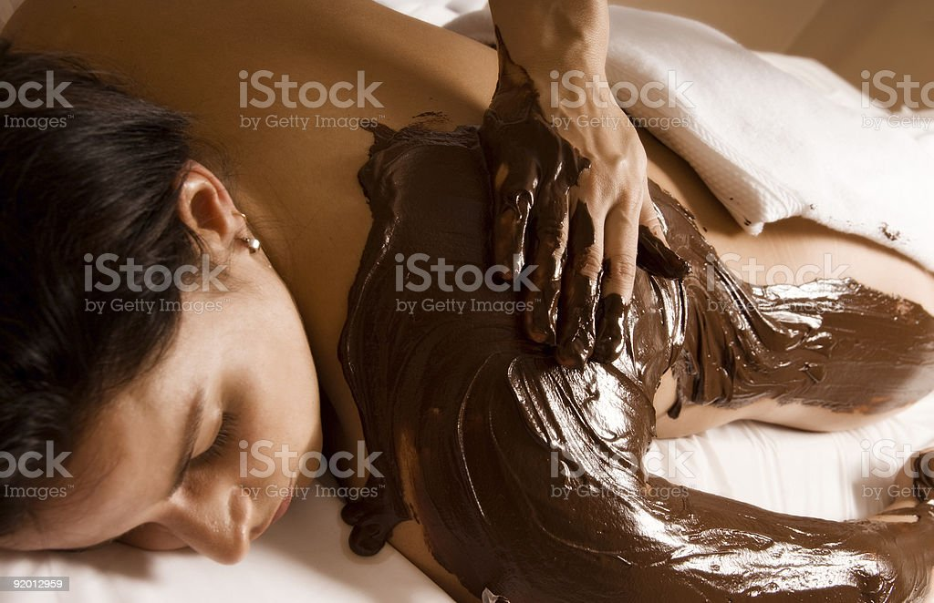 Chocolate treatment royalty-free stock photo
