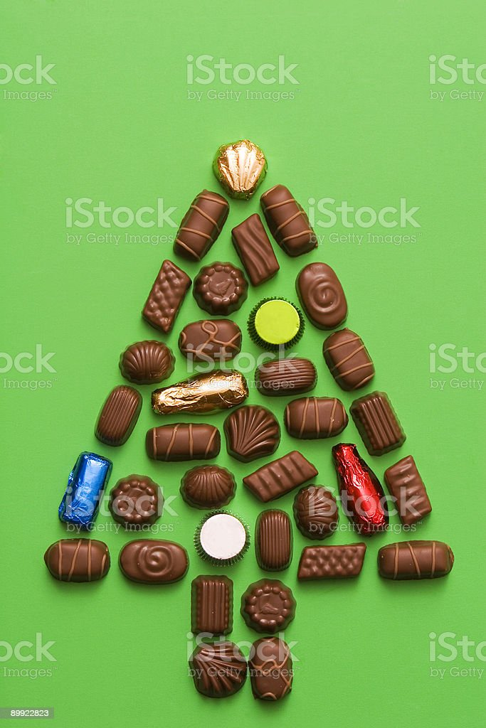 chocolate tree stock photo