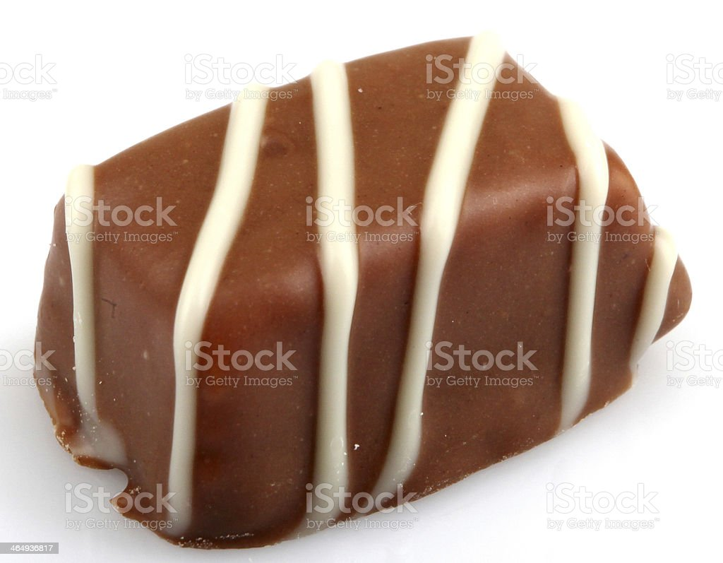 Chocolate Truffles Isolated On White Background royalty-free stock photo