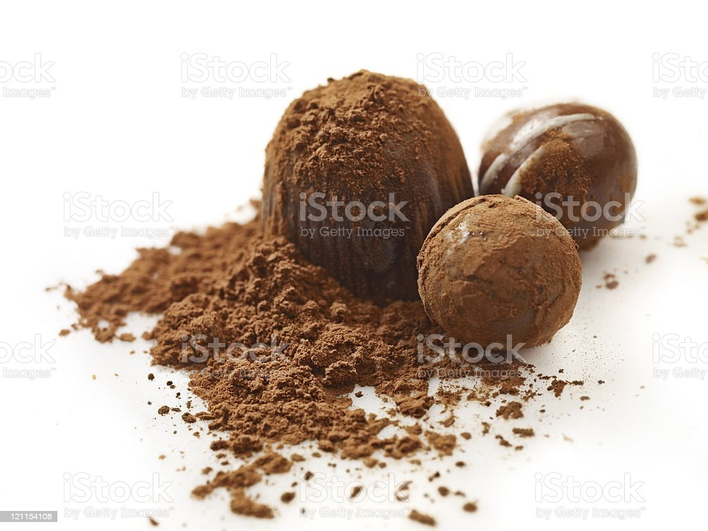 chocolate truffles royalty-free stock photo
