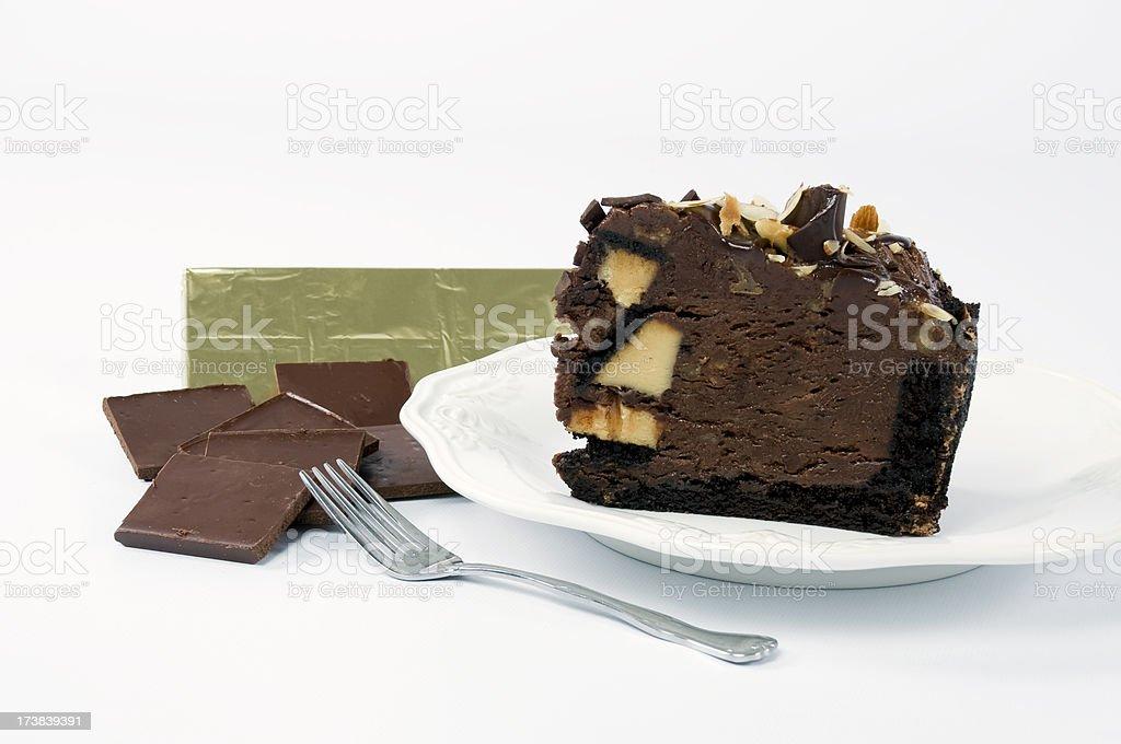 Chocolate Turtle Cheesecake royalty-free stock photo