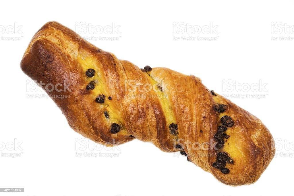 Chocolate Twist Croissant stock photo