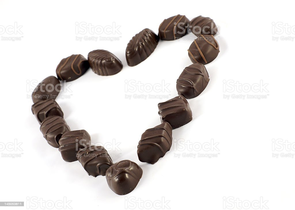 chocolate valentine heart shape royalty-free stock photo