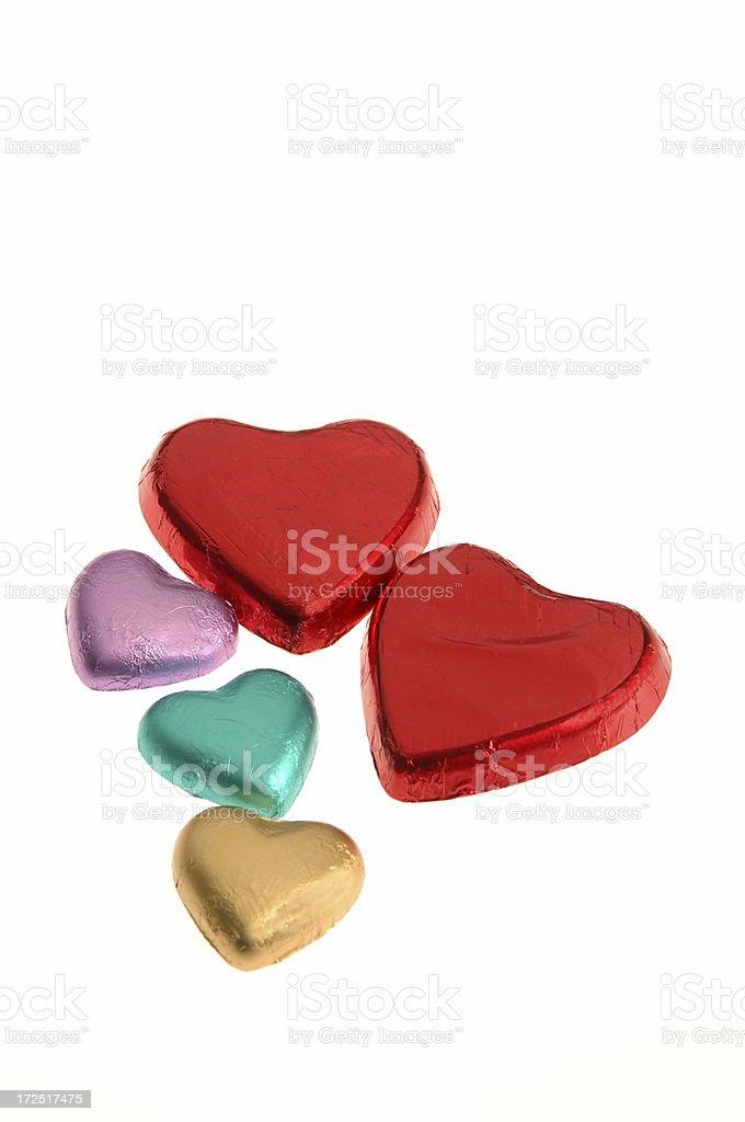 Chocolate Valentine Hearts royalty-free stock photo