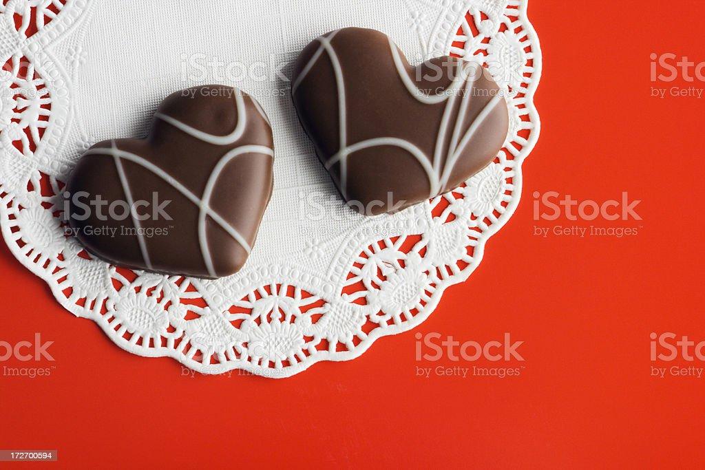 Chocolate Valentine royalty-free stock photo