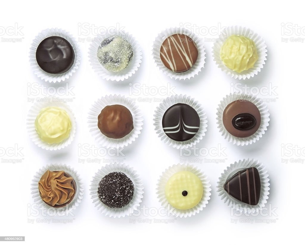 chocolate variation stock photo