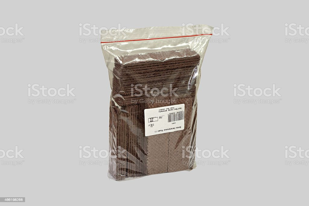 Chocolate wafers in the package stock photo
