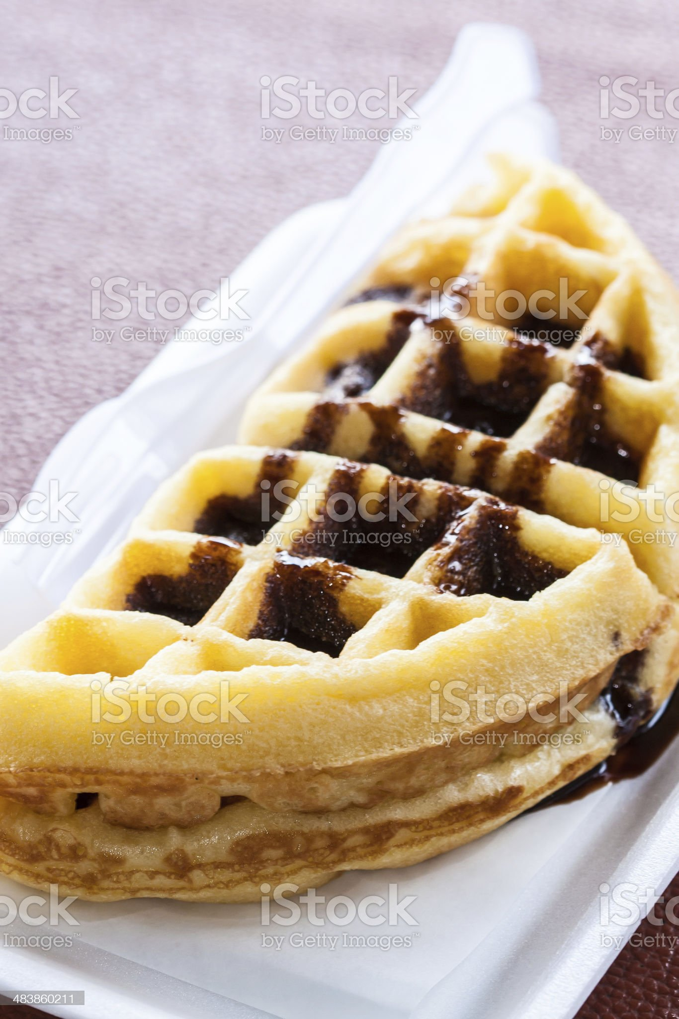Chocolate waffle royalty-free stock photo