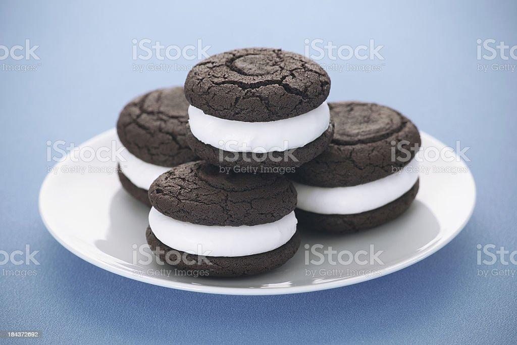 Chocolate Whoopie Pies stock photo