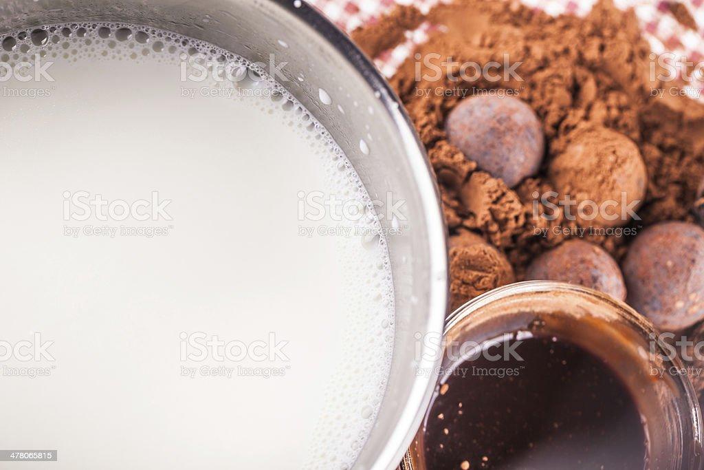 chocolate with milk royalty-free stock photo