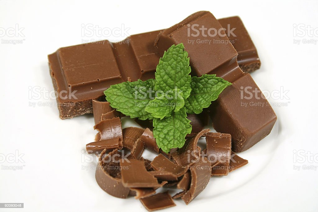 Chocolate With Mint royalty-free stock photo