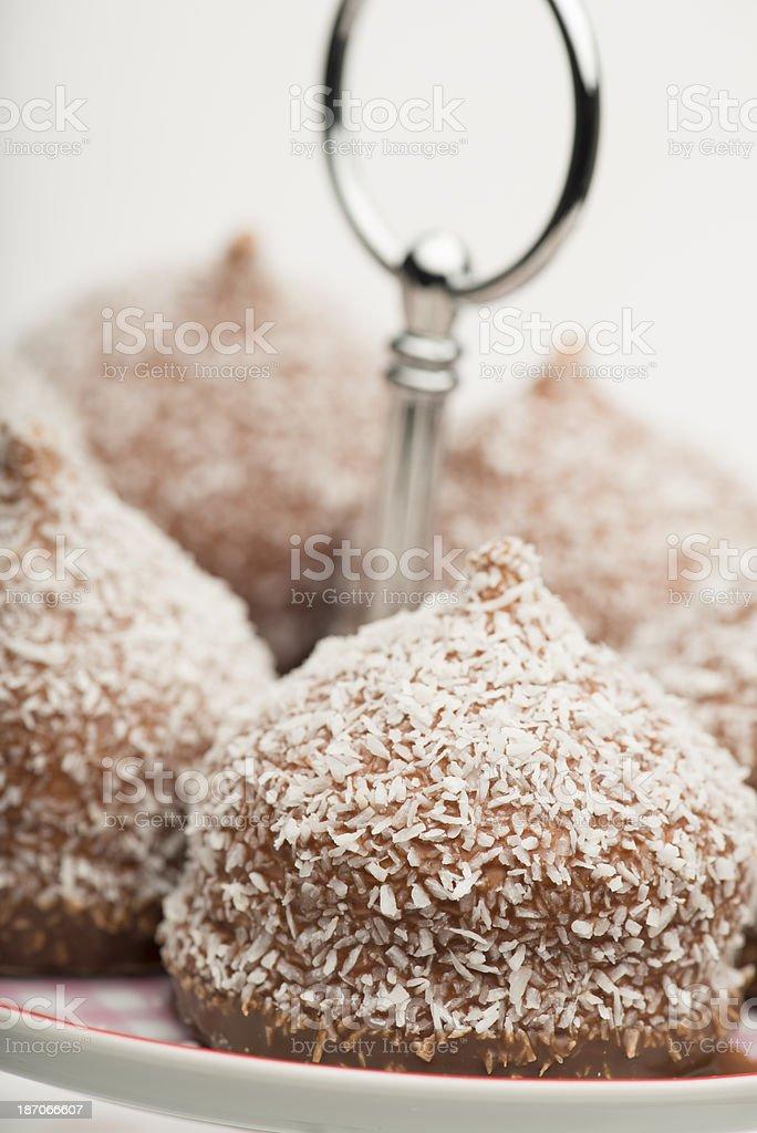 Chocolate-coated marshmallow treats (XXXLarge) royalty-free stock photo