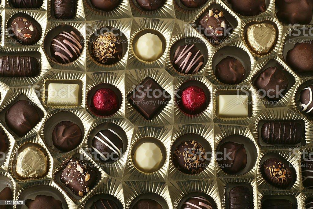 Chocolate's box stock photo