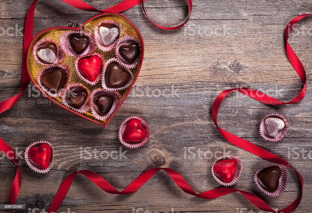 chocolates for Valentine's Day stock photo