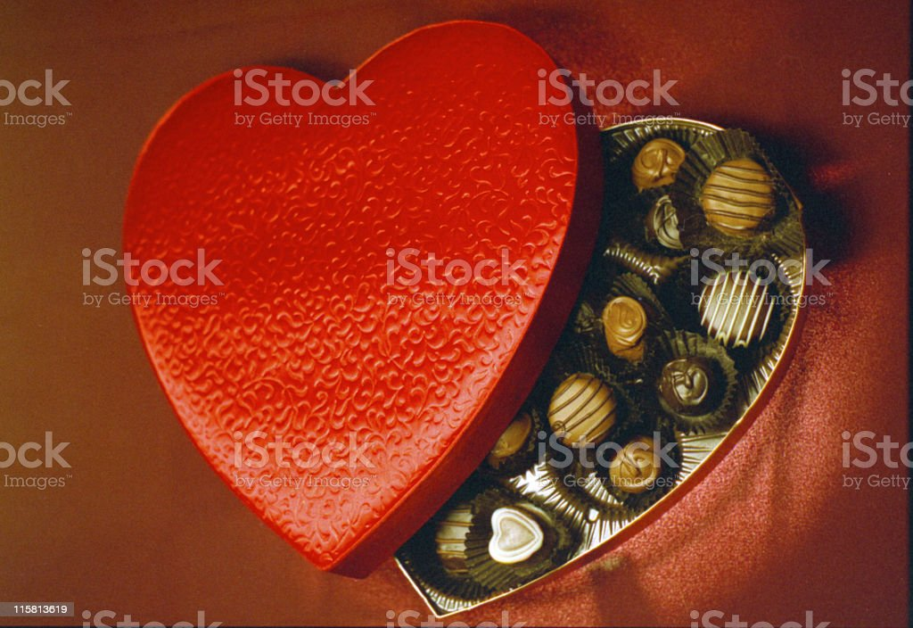 Chocolates for Valentines royalty-free stock photo