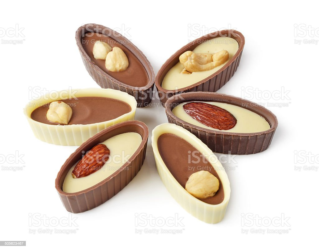 Chocolates in shape of star stock photo