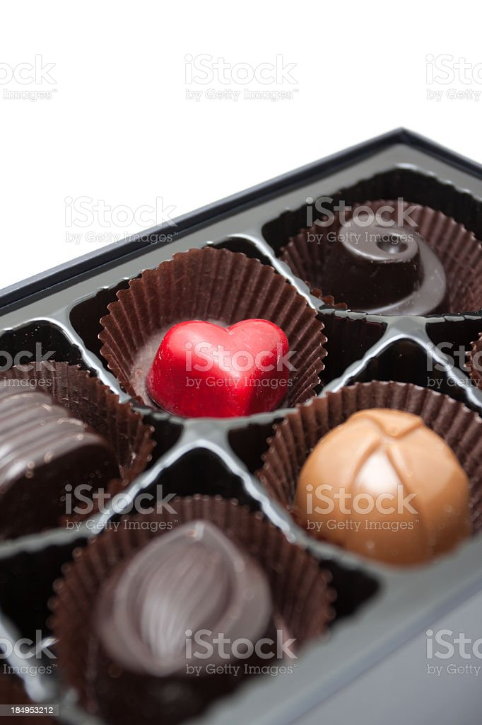 Chocolates isolated on white background royalty-free stock photo