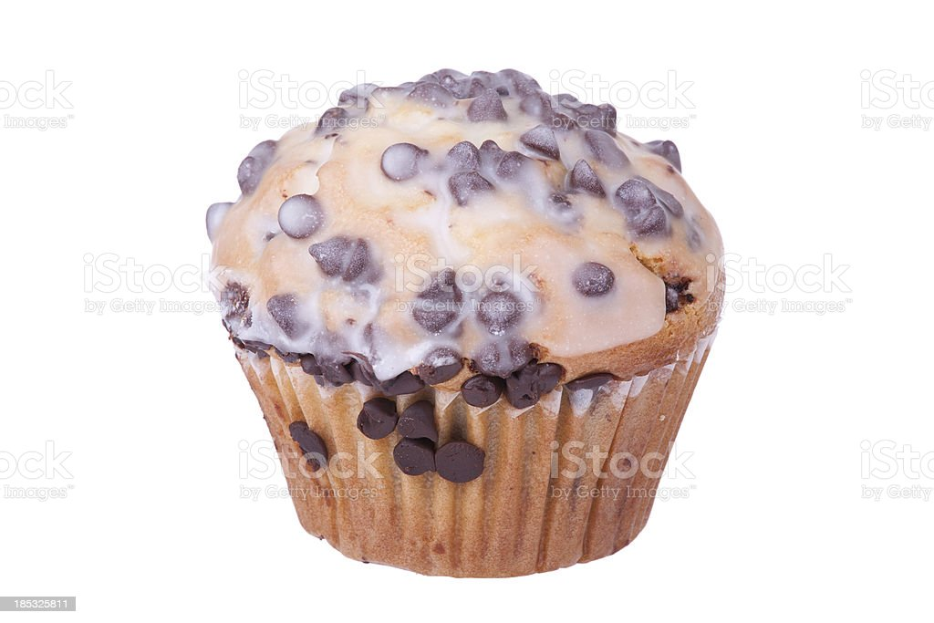 Chocoloate Chip Muffin stock photo