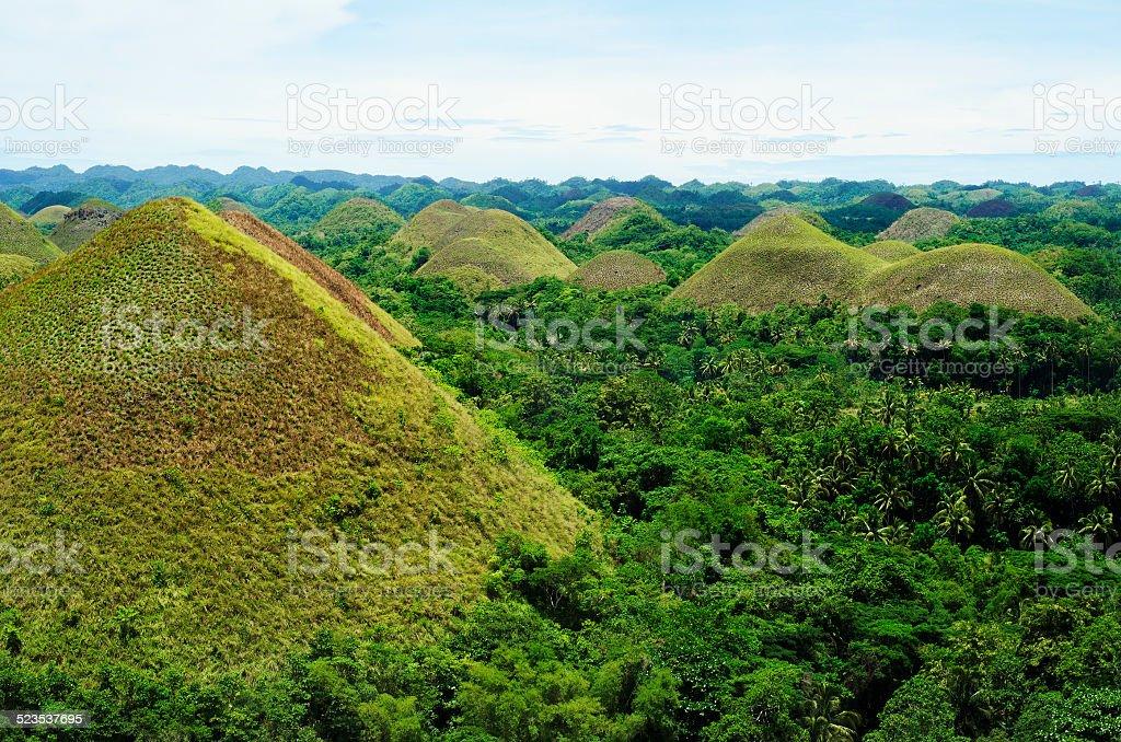 Chocololate Hills, Bohol, Philippines stock photo