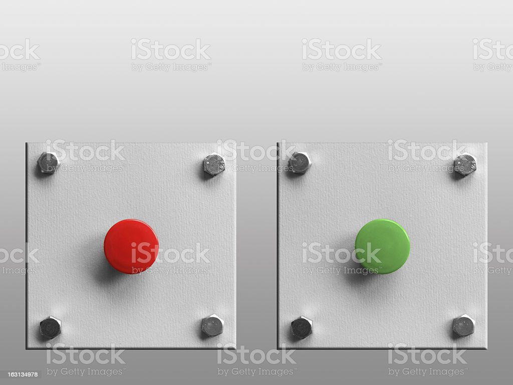 Choice 1 (clipping path) royalty-free stock photo