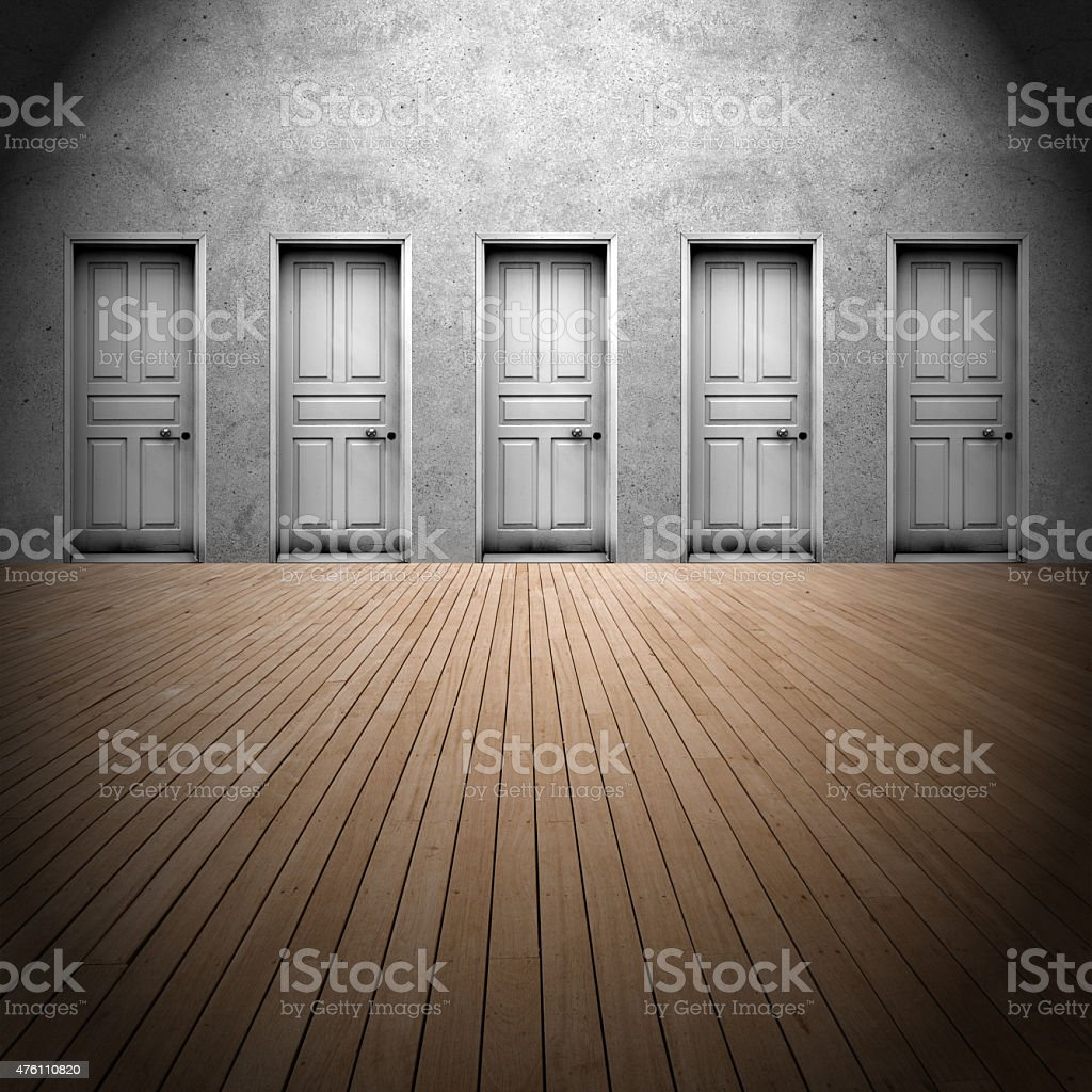 Choice a door stock photo
