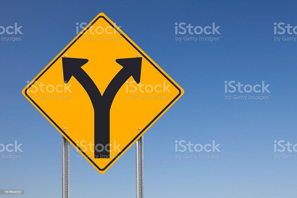 Choice Ahead Traffic Sign stock photo