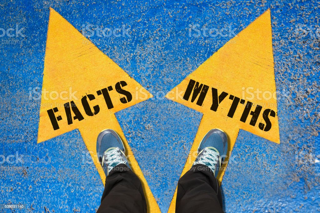 Choice Concept - FACTS and MYTHS stock photo