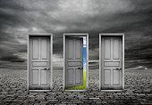 Choice door and change