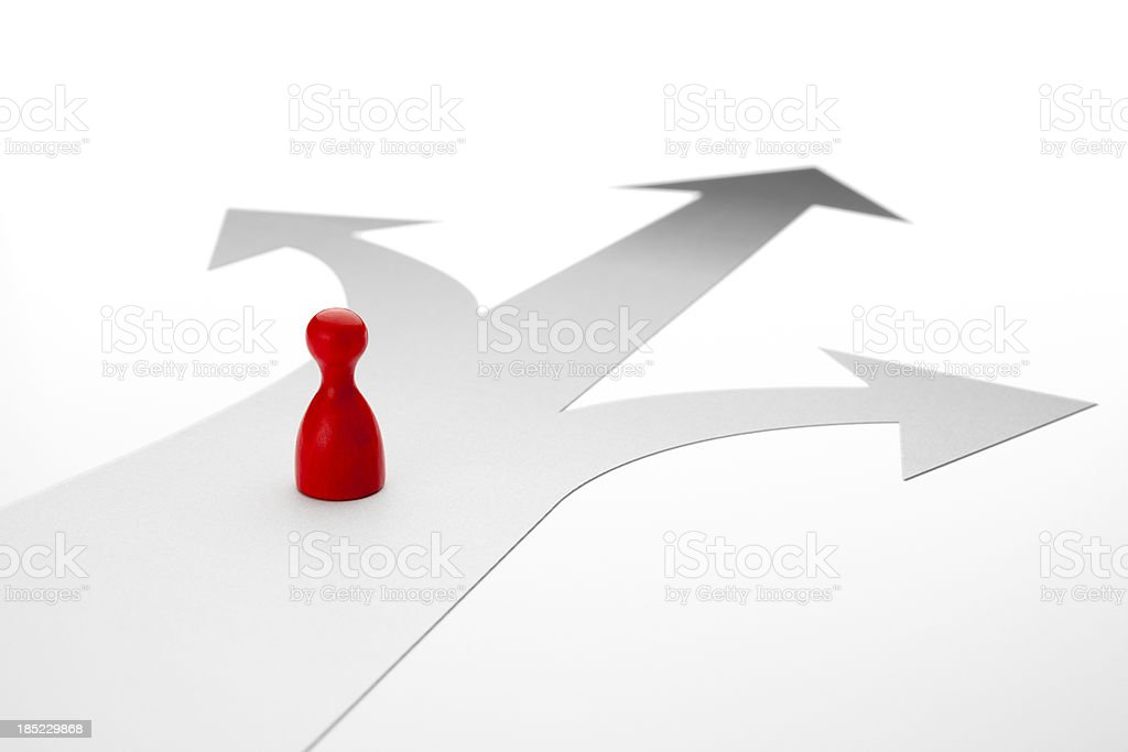 Choice - Game Pawn Concept royalty-free stock photo