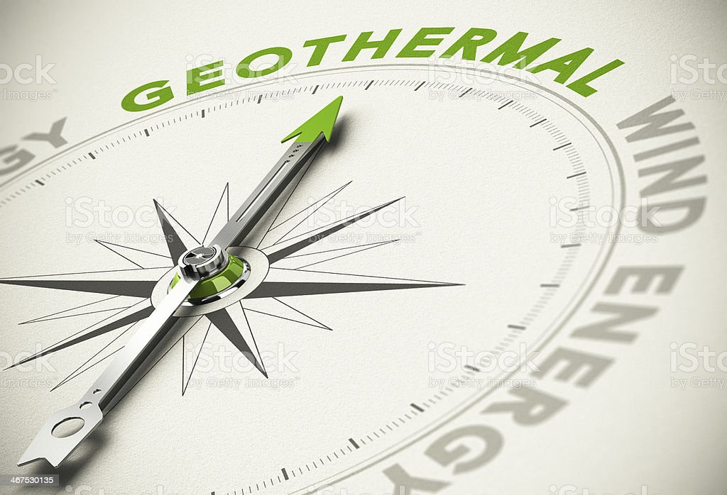 Choice - Geothermal Concept stock photo
