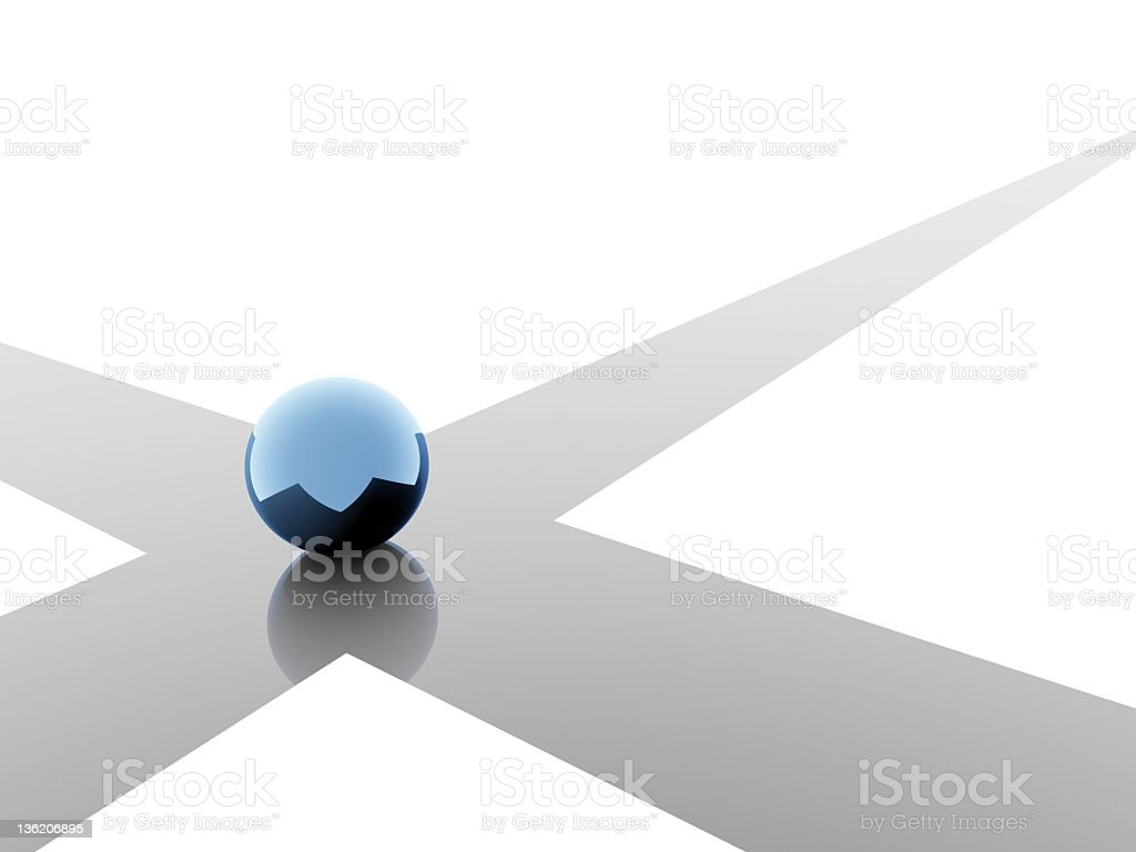 Choice in blue stock photo