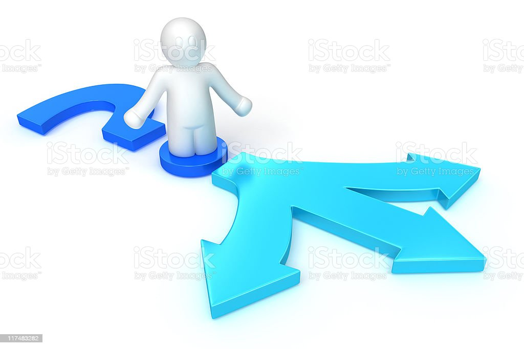 choice of a way problem royalty-free stock photo