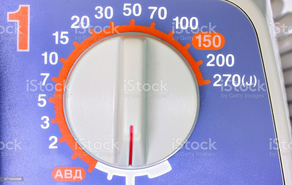 choice of energy before the electroshock therapy stock photo