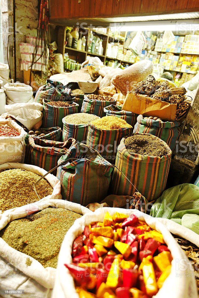 choice of spices stock photo