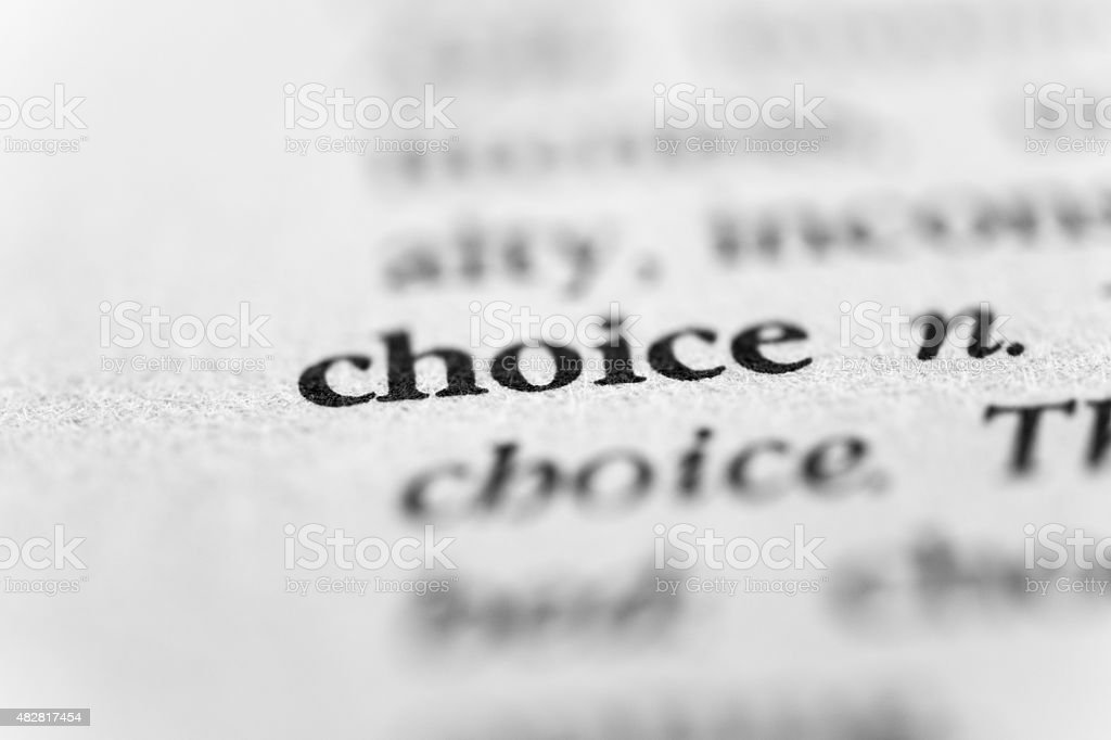 Choice stock photo