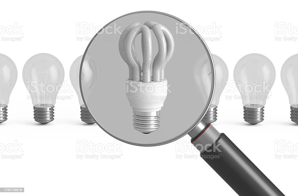 choice saving lamp concept stock photo
