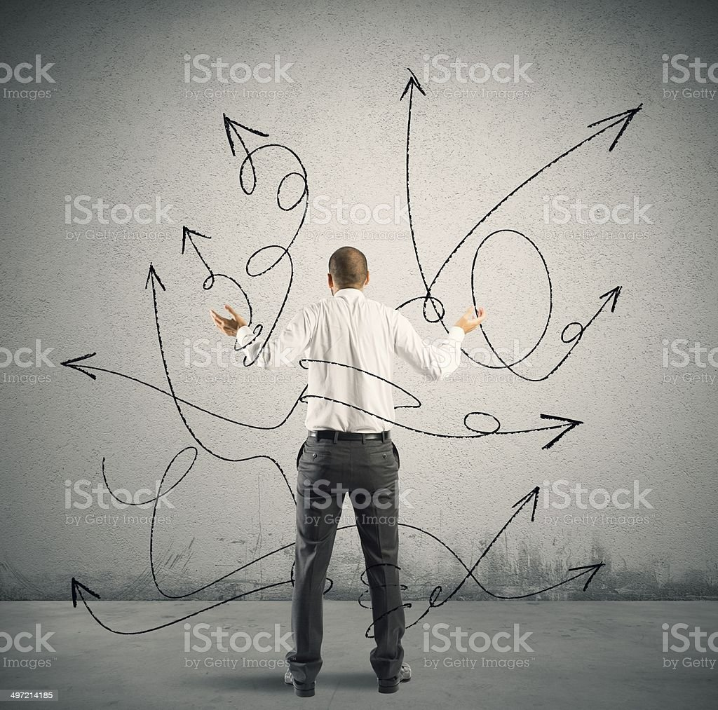 Choices of a businessman stock photo