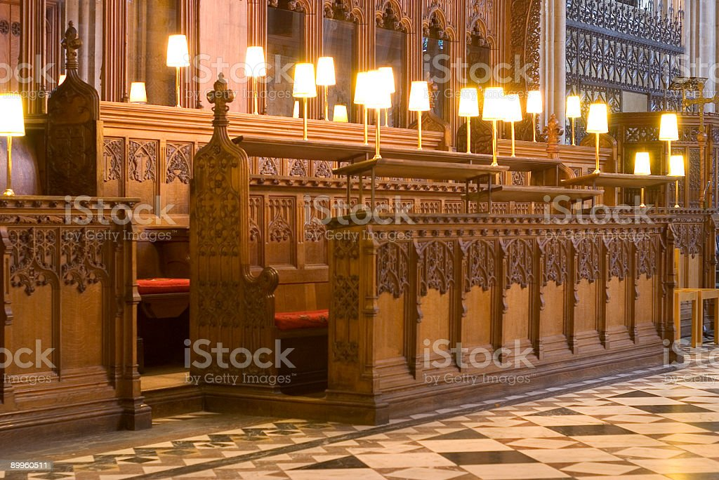Choir stalls royalty-free stock photo