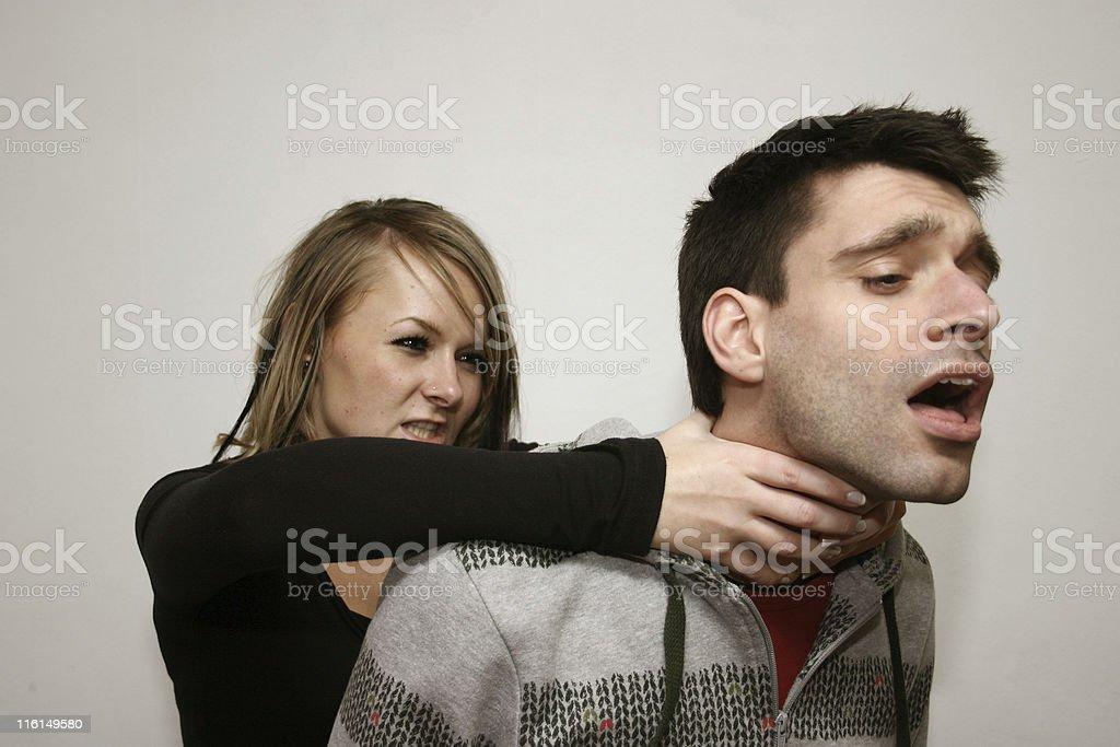 choke! stock photo
