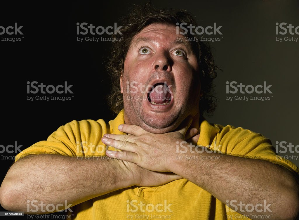choked on an olive pit stock photo