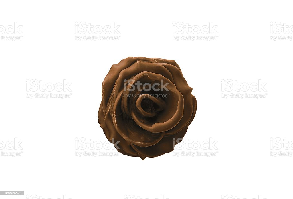 chokolate rose isolated on white royalty-free stock photo