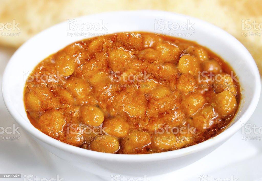 chola bhatura - chole bhature - Indian Food stock photo