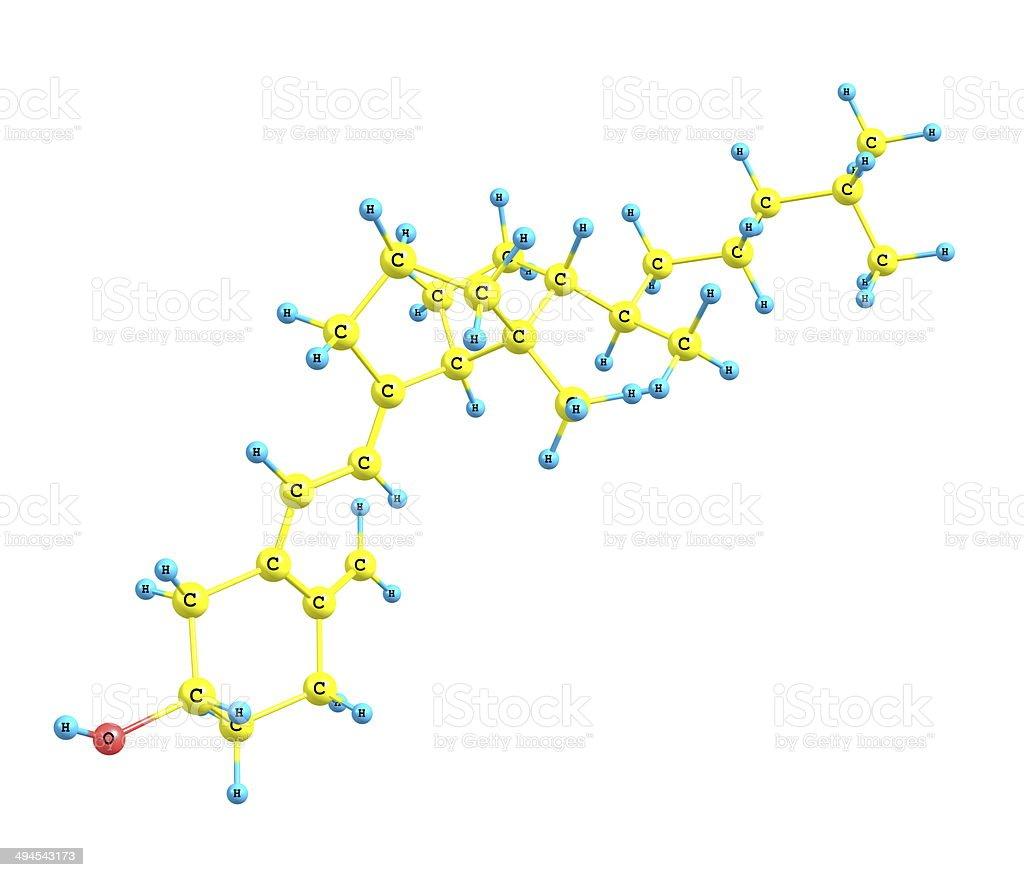 Cholecalciferol (D) molecular structure on white background stock photo