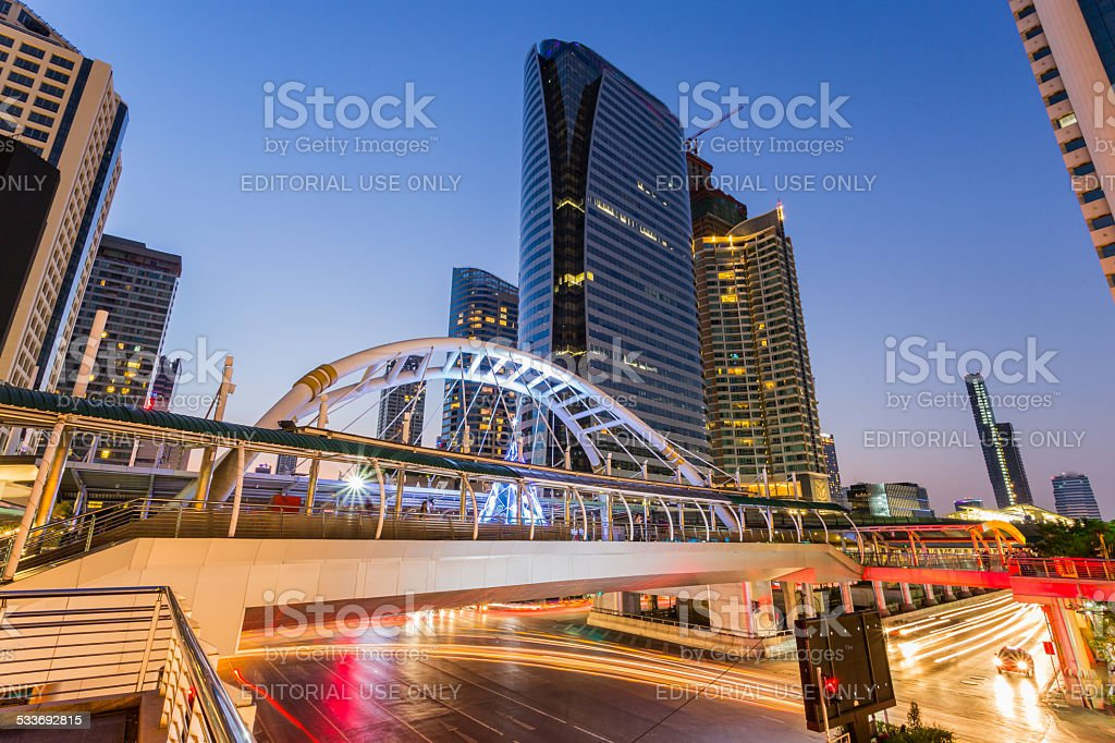 Chong Nonsi Business Area stock photo