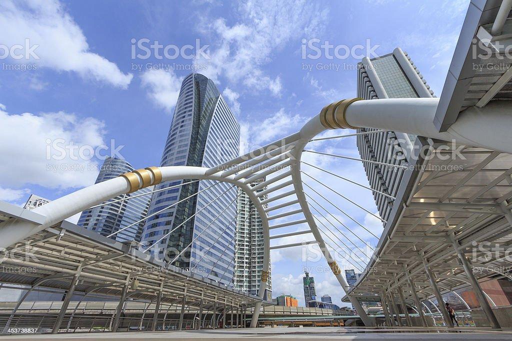 Chong Nonsi skywalk at bangkok skytrain,Thailand stock photo