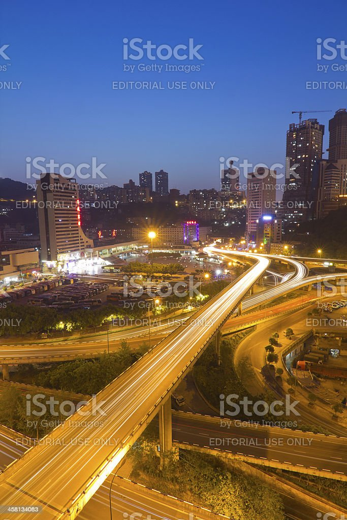 Chongqing City in the night royalty-free stock photo
