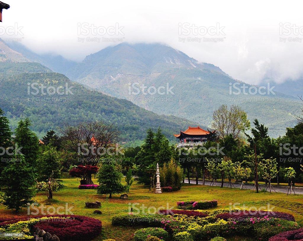 Chongsheng Temple Garden foto stock royalty-free