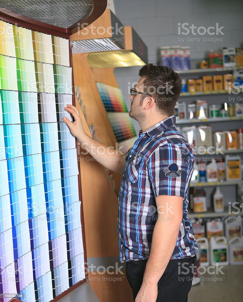 Choose Color Man Hardware Store royalty-free stock photo