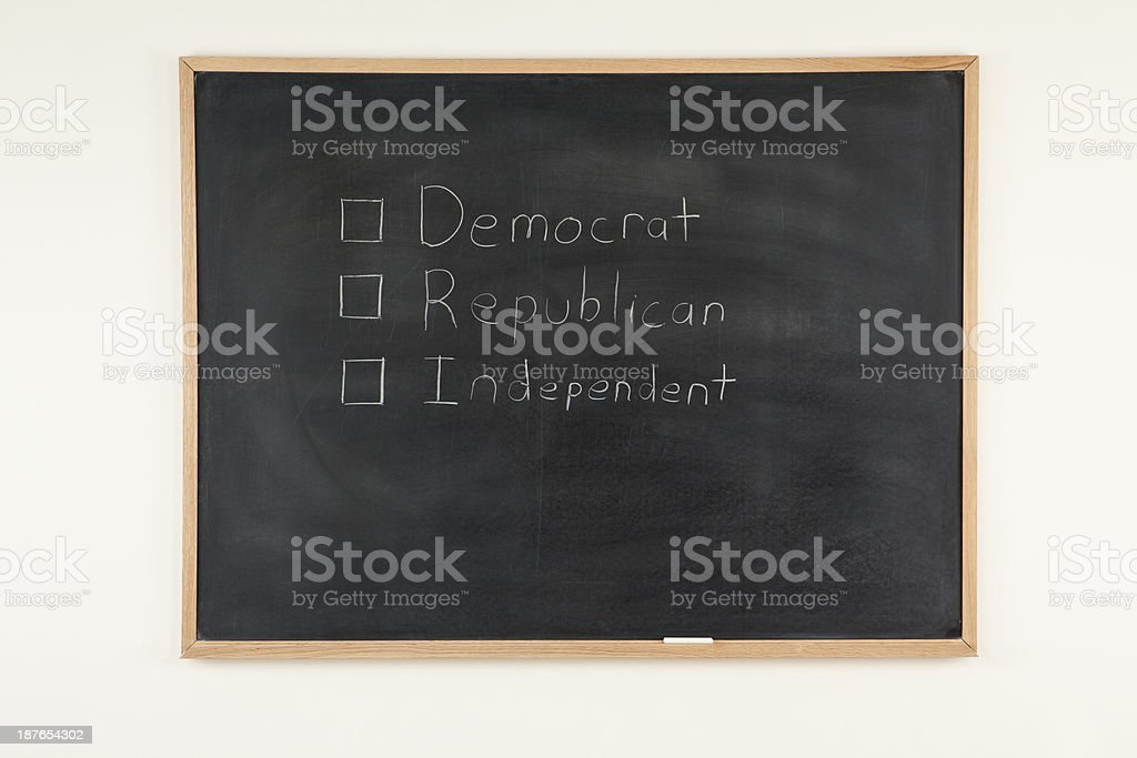 Choose Democrat, Republican, or Independent royalty-free stock photo