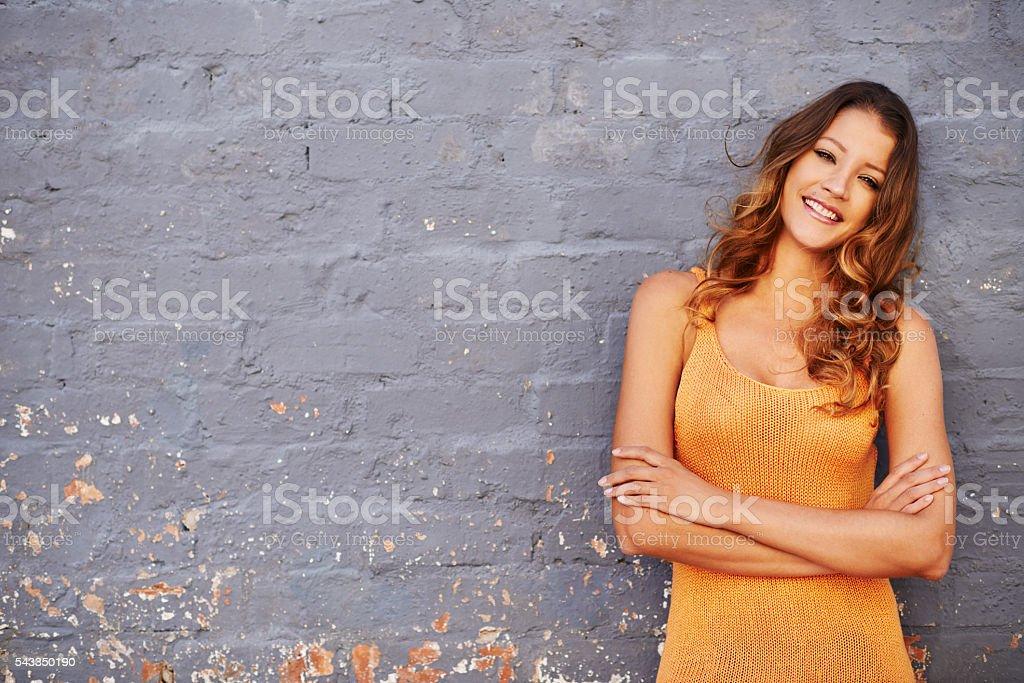 I choose happy every day stock photo